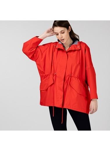 Lacoste Kadın Kapüşonlu Mont BF0101.01R Kırmızı